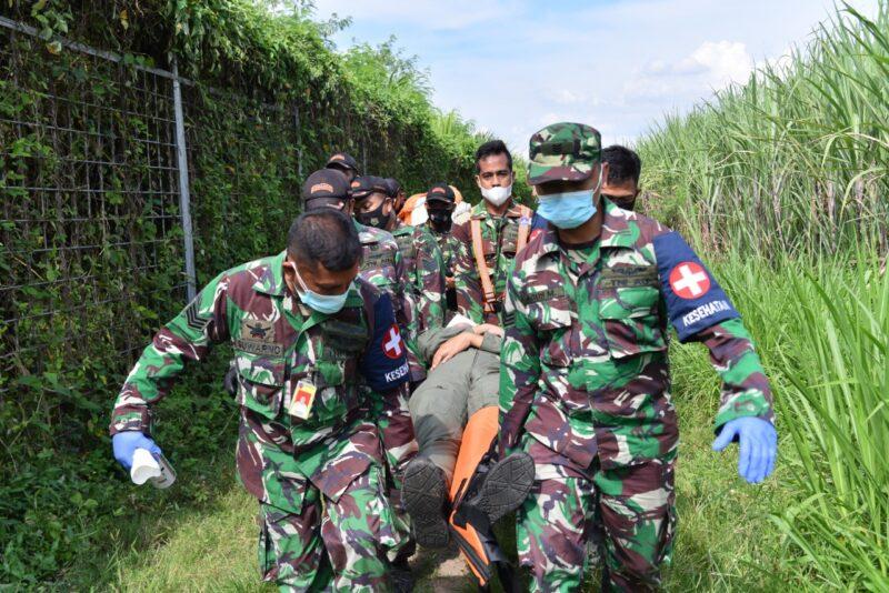 Latihan Elang Gesit Lanud Iswahjudi : Pesawat Tucano One Alami Crash Landing, Ini yang dilakukan Crash Team
