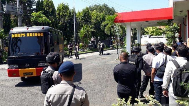 Tas Diduga Bom Diledakkan di DPRD Kota Kediri