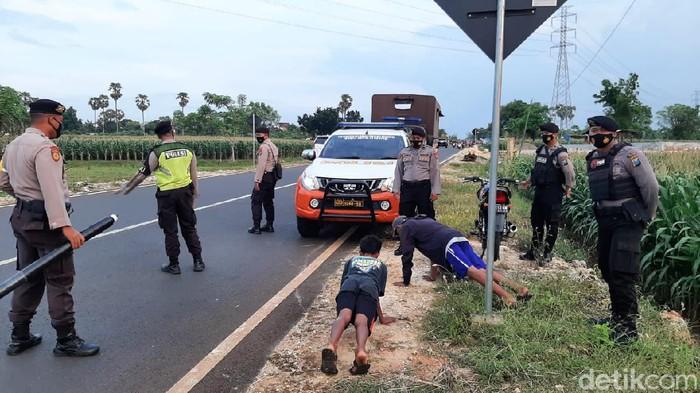 Balapan Liar di Tuban Dirazia, Pembalap Dihukum Push Up
