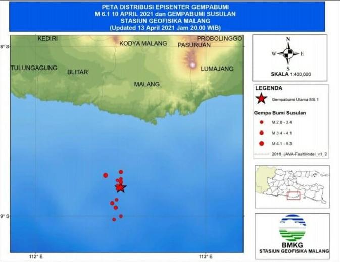Terjadi 13 Gempa Susulan Malang, BMKG: Magnitudonya Kecil