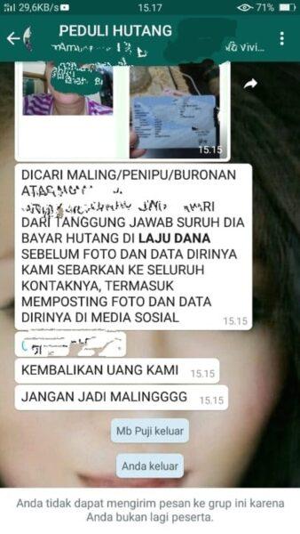 Kejam! Debt Collector Pinjol Bikin Grup WA untuk Tagih Utang dna Permalukan Guru TK di Malang